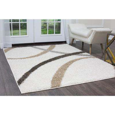Synergy White/Beige 3ft. x 4ft. Indoor Area Rug