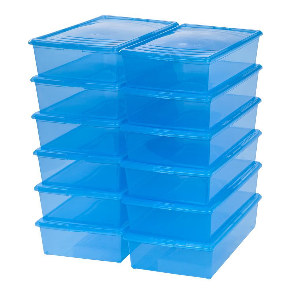 IRIS 33-Qt. Modular Storage Box in Blue (12-Pack)