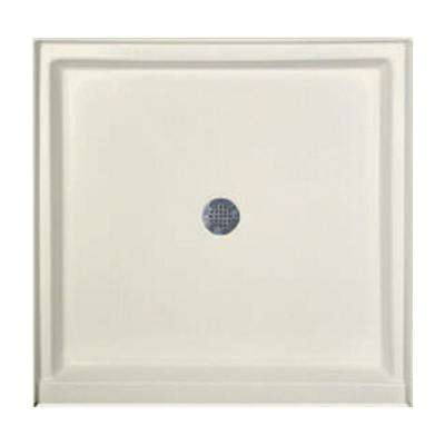 36 in. x 36 in. Single Threshold Shower Base in Biscuit