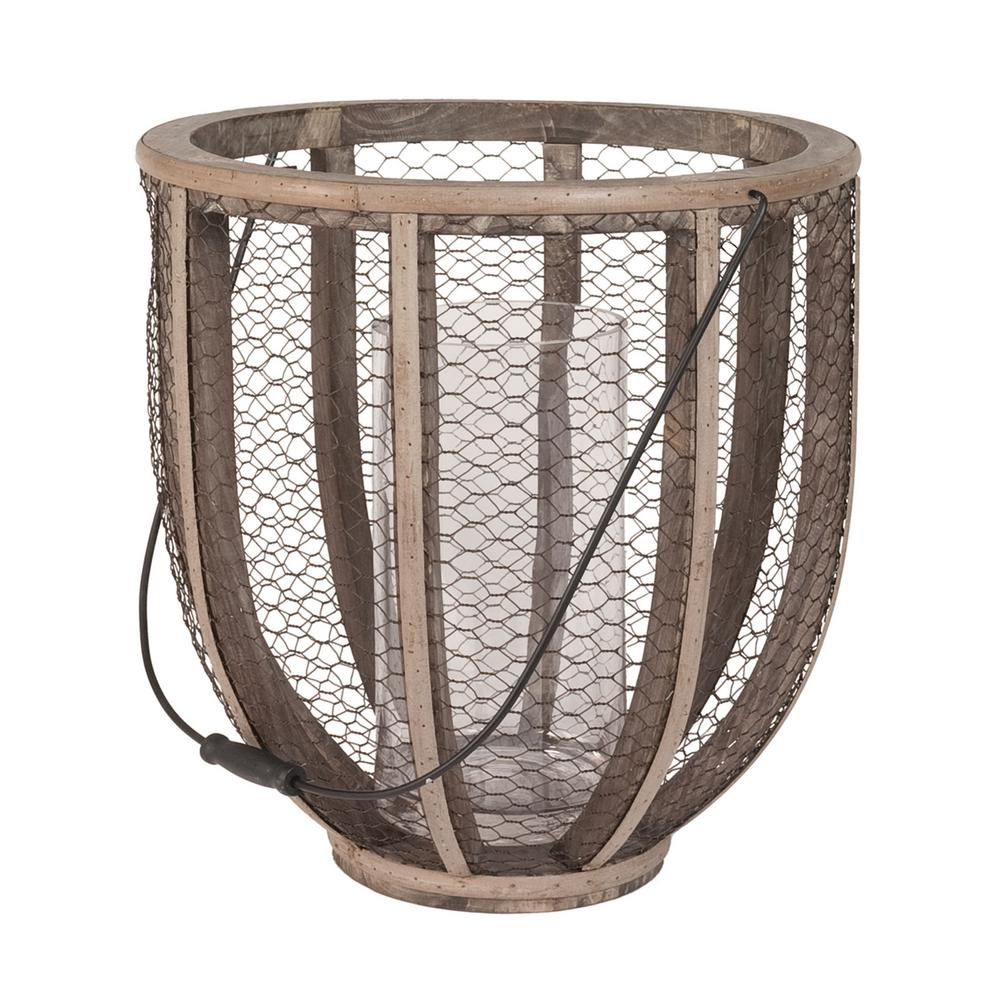 Titan lighting 17 in barrel wire atlas wood and wire hurricane barrel wire atlas wood and wire hurricane candle holder in natural wood and dark bronze tn 892168 the home depot reviewsmspy