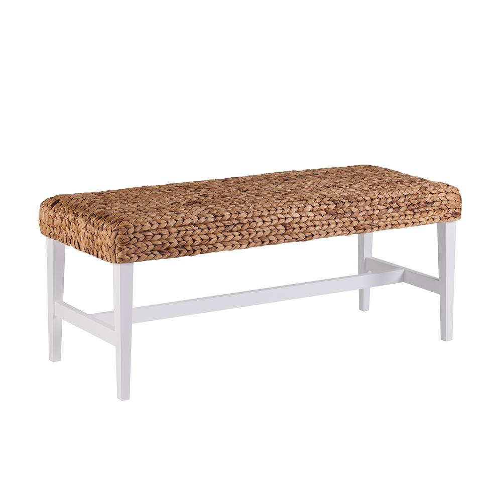Southern Enterprises Kessler White Woven Coffee Table