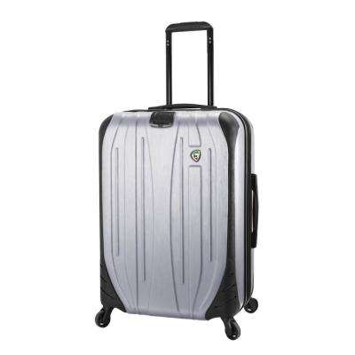 Compaz 28 in. Silver Hardside Spinner Suitcase