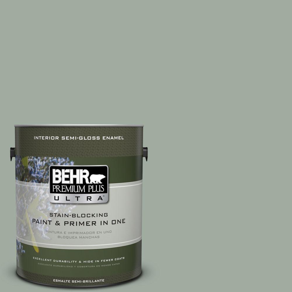 1-gal. #PPU11-15 Green Balsam Semi-Gloss Enamel Interior Paint