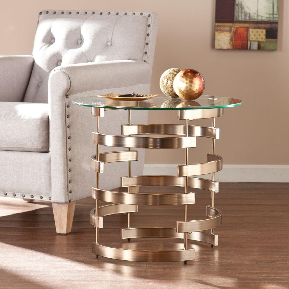 southern enterprises raymond champagne end table