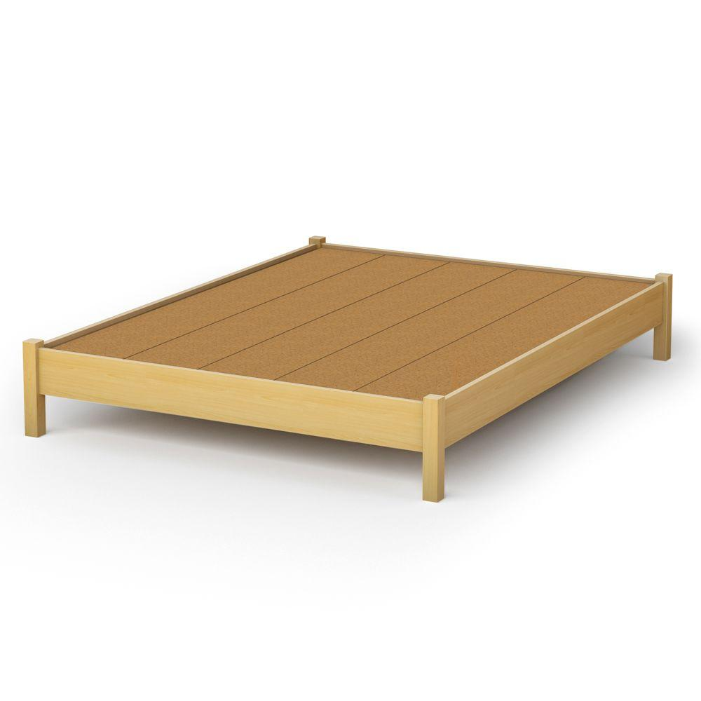 South Shore Bedtime Story Queen-Size Platform Bed in Natural Maple