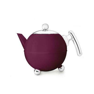 5-Cup Cpacity Burgundy Belle Ronde Teapot