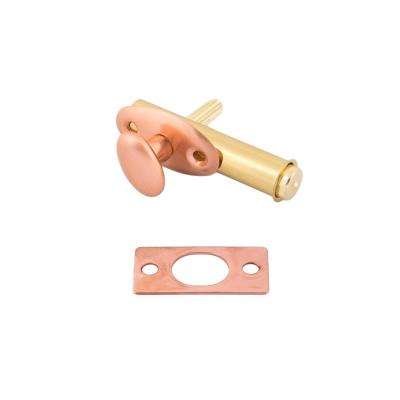 Solid Brass Mortise Door Bolt in Bright Copper