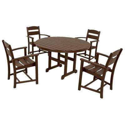Classics Mahogany 5-Piece Plastic Outdoor Patio Dining Set
