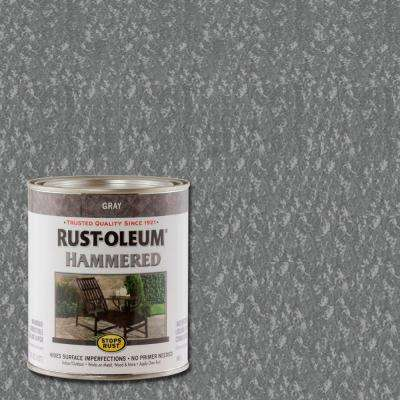 1 qt. Gray Hammered Rust Preventive Paint (Case of 2)