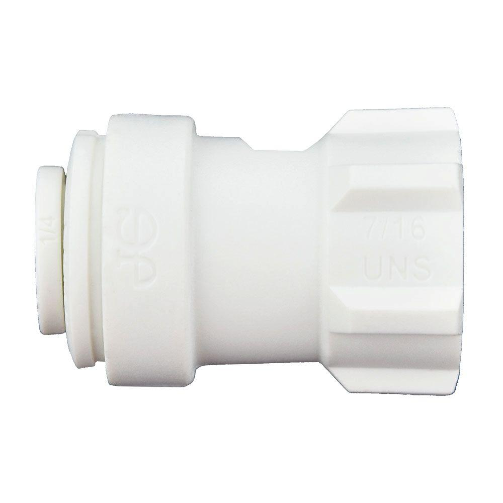 1/4 in. x 1/4 in. Polypropylene Push-to-Connect Female Compression Faucet