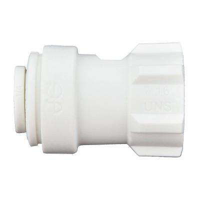 1/4 in. x 1/4 in. Polypropylene Push-to-Connect Female Compression Faucet Connector (10-Pack)