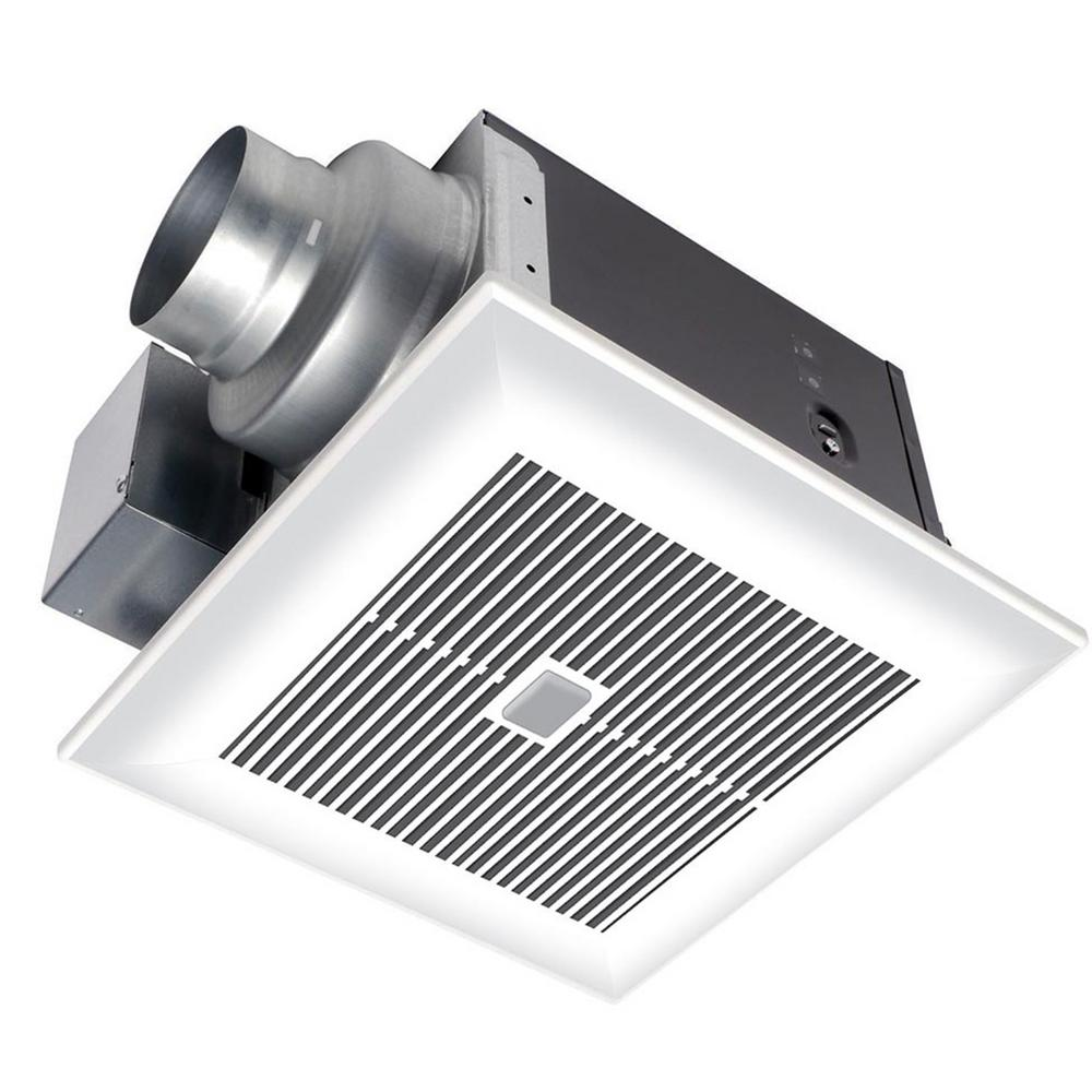 Modern bathroom vent fan - Panasonic Whispersense 110 Cfm Ceiling Humidity And Motion Sensing Exhaust Bath Fan With Timer Energy