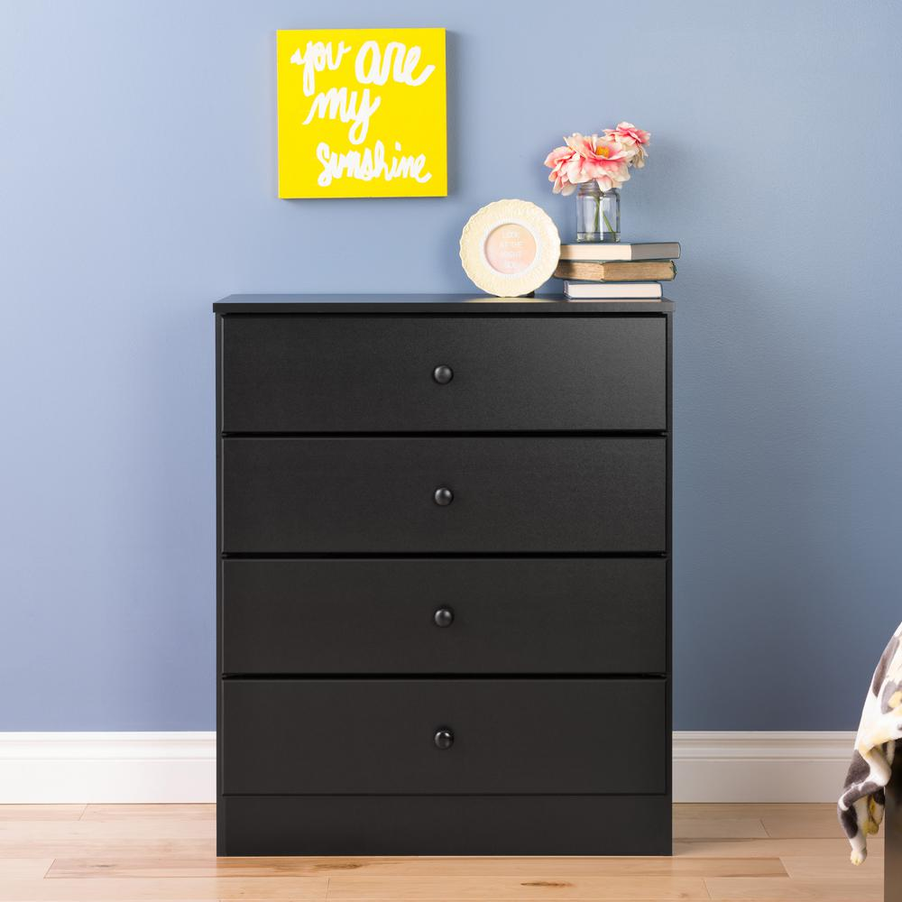 Prepac Astrid 4 Drawer Black Chest