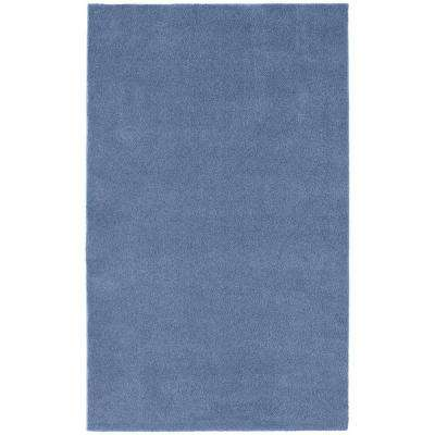 Washable Room Size Bathroom Carpet Basin Blue 5 ft. x 8 ft. Area Rug