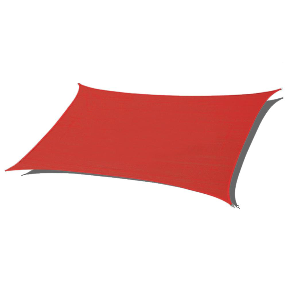 89d573cc6e6a Red Rectangle Sun Shade Sail 185 GSM UV Block for Patio Deck Yard and  Outdoor Activities