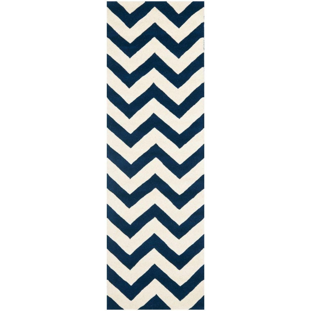 Chatham Dark Blue/Ivory 2 ft. 3 in. x 13 ft. Runner