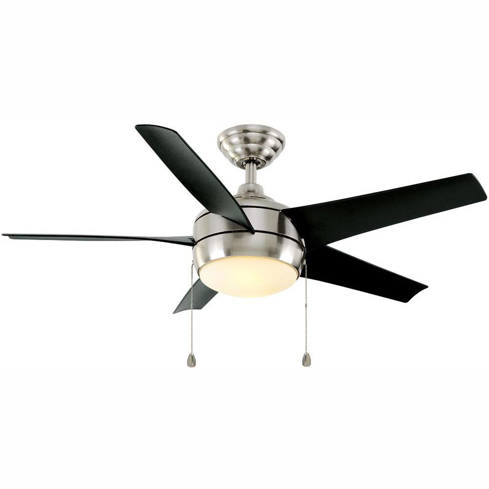 Home Decorators Collection Windward 44 in. LED Brushed Nickel Ceiling on