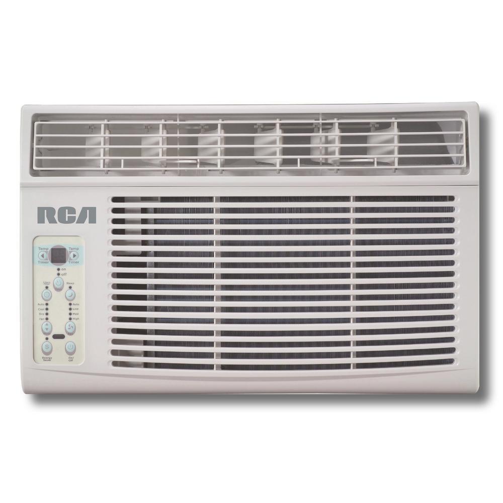 6,000 BTU 115-Volt Window-Mounted Air Conditioner with Remote