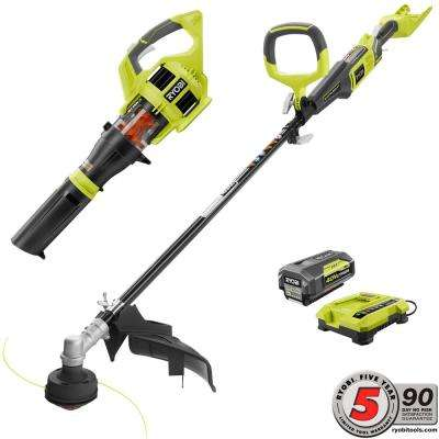 40-Volt Cordless Lithium-Ion String Trimmer and Jet Fan Blower Combo Kit (2-Tool)