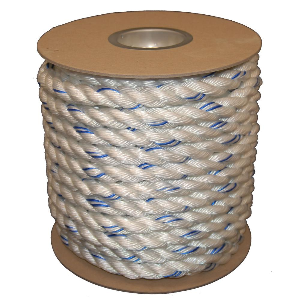 5/8 in. X 600 ft. Twisted Polydac Poly Dacron Combo Rope,...