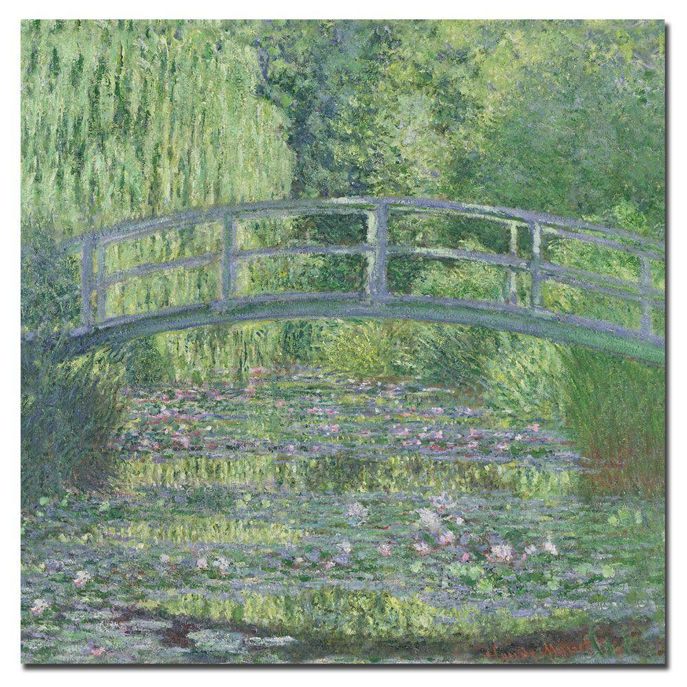 18 in. x 18 in. The Waterylily Pond Canvas Art