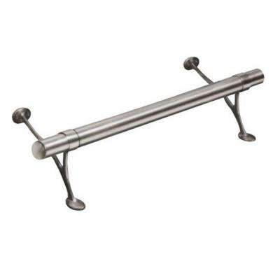 8 ft. Satin Brushed Solid Stainless Steel Bar Foot Rail Kit