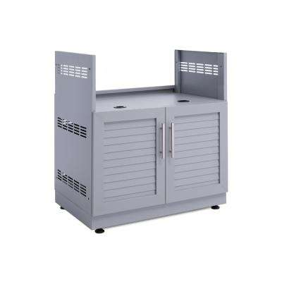 Coastal Gray 32 in. Insert Grill 32 in. W x 36.5 in. H x 23 in. D Outdoor Kitchen Cabinet