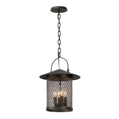 Altamont 4-Light French Iron Outdoor Pendant
