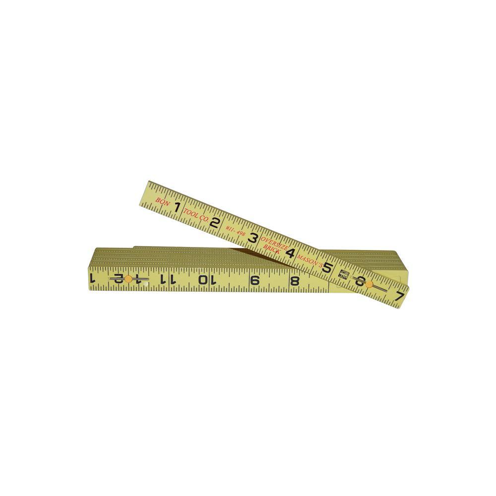 6 ft. Oversized Fiberglass Rule for Brick Spacing