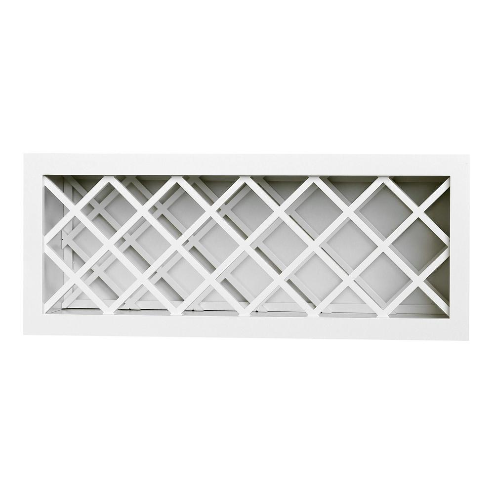 Plywell Ready To Assemble 36x15x12 In Shaker Wall Wine Rack In White Swxwr3615 The Home Depot