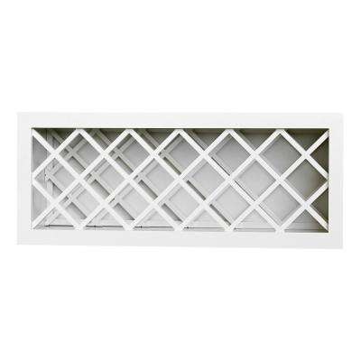 Plywell Ready to Assemble 36x15x12 in. Shaker Wall Wine Rack in White