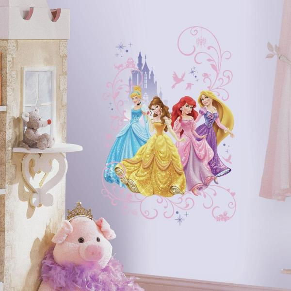 f730781397 RoomMates 2.5 in. x 27 in. Disney Princess Wall Graphix Peel and Stick Giant
