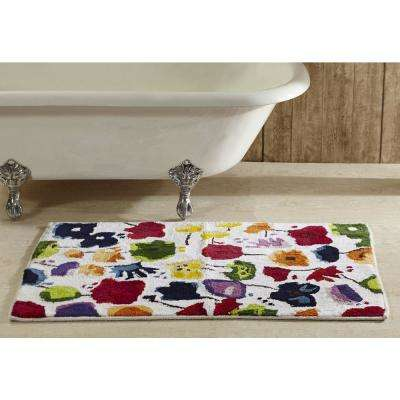 Picasso Collection Multi 30 in. x 48 in. Cotton Bath Rug
