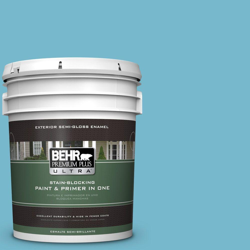 BEHR Premium Plus Ultra 5-gal. #M480-4 Below Zero Semi-Gloss Enamel Exterior Paint