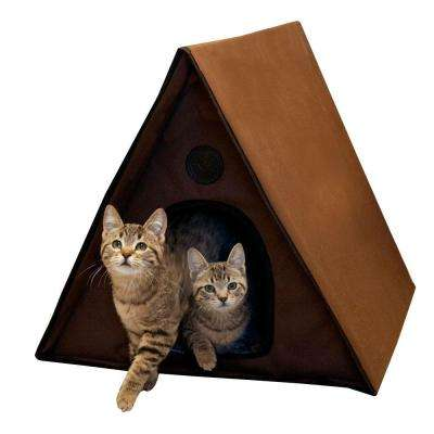 Outdoor Heated Kitty A-Frame House