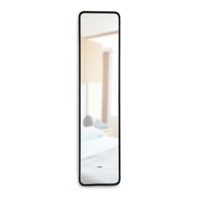 Small Black Other Modern Mirror (1.88 in. H X 14.5 in. W)