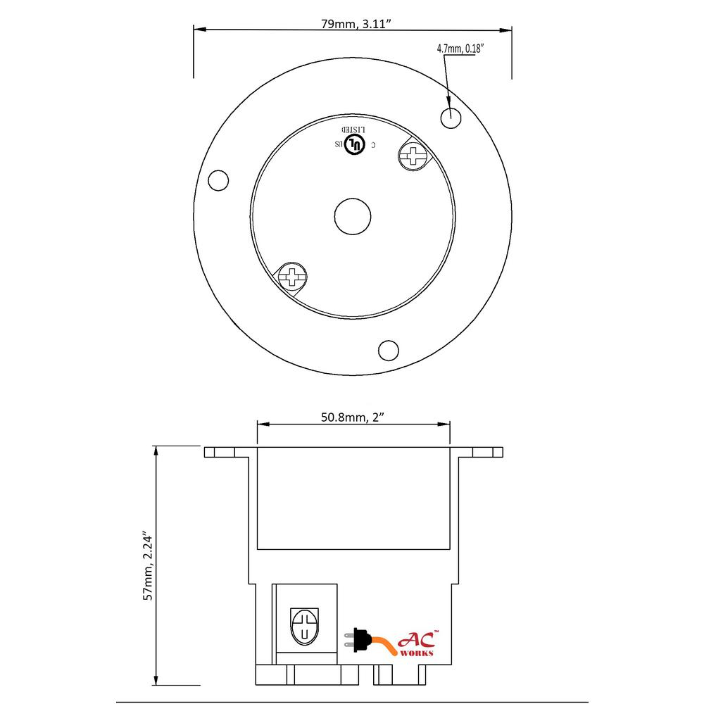 [SCHEMATICS_48DE]  AC WORKS 3-Phase 30 Amp 250-Volt NEMA L15-30R Flanged Mounting Locking  Industrial Grade Receptacle-ASOUL1530R - The Home Depot | L15 30 Wiring Three Phase Diagram |  | Home Depot