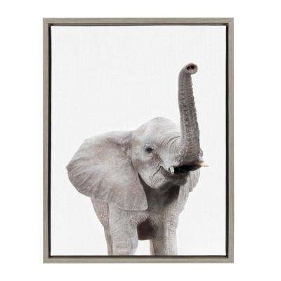 "Sylvie ""Animal Studio Elephant"" by Amy Peterson Framed Canvas Wall Art"