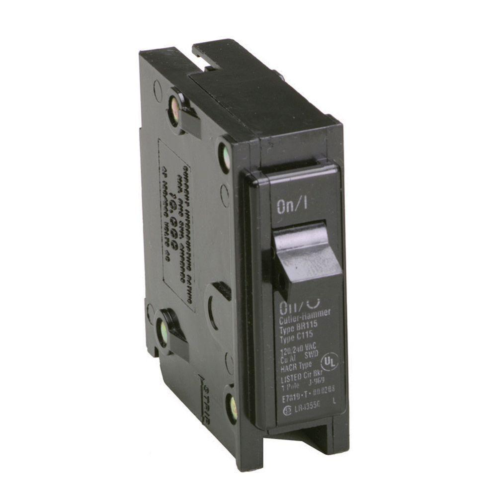 Eaton 20 Amp 1 in. Single-Pole Type BR Replacement Circuit Breaker