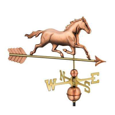 Trotting Horse Weathervane - Pure Copper
