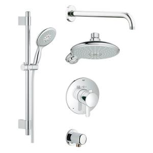 GROHE GrohFlex Cosmopolitan Shower Set 4-Spray Shower System in StarLight Chrome by GROHE