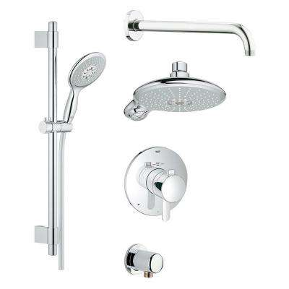 GrohFlex Cosmopolitan Shower Set 4-Spray Shower System in StarLight Chrome