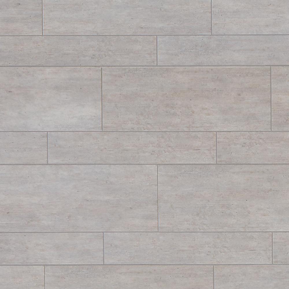 Grey stone floor tiles