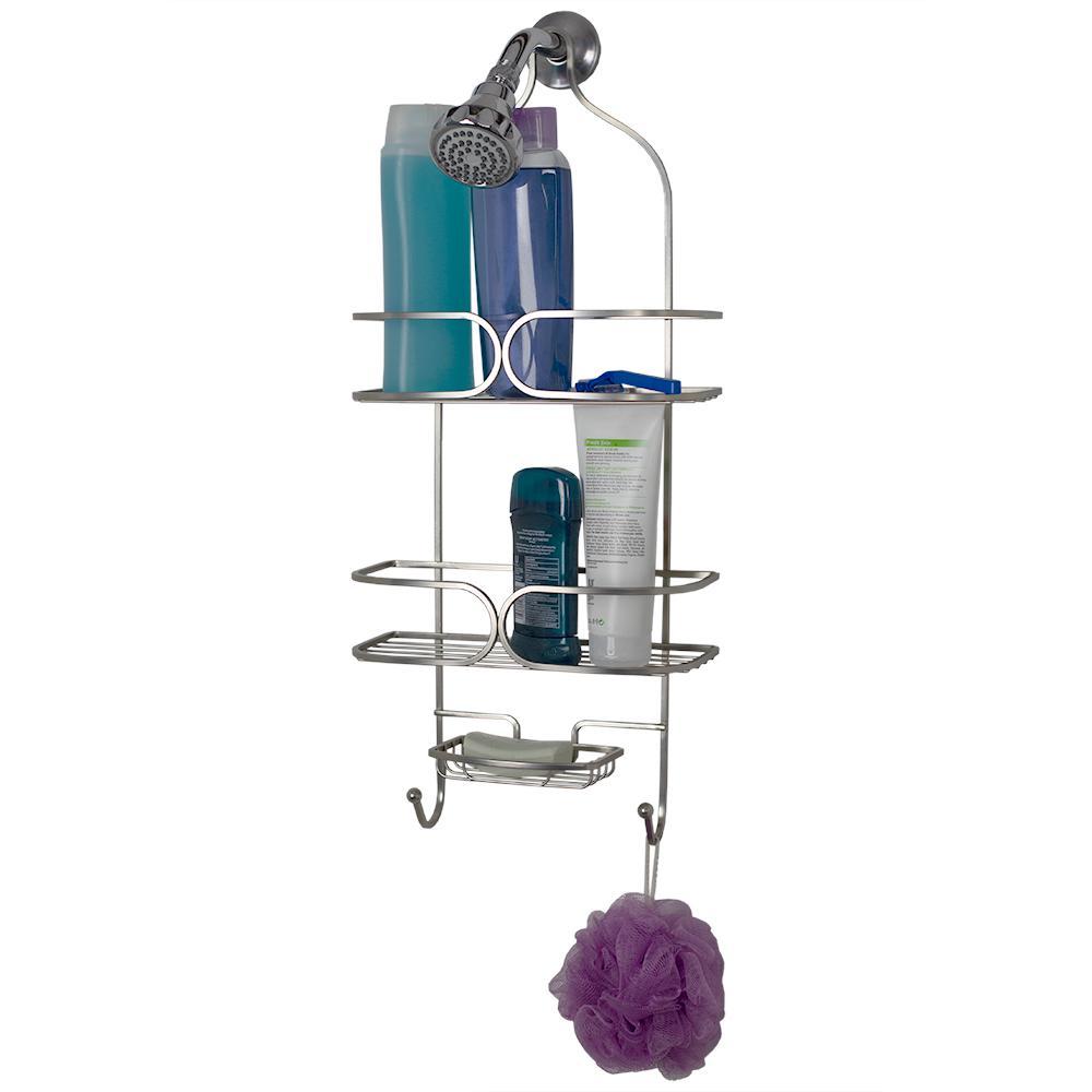 Essence Free Standing Shower Caddy in Satin Nickel