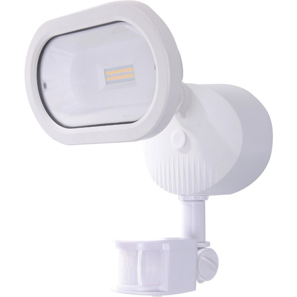White Outdoor Integrated LED Spot Light
