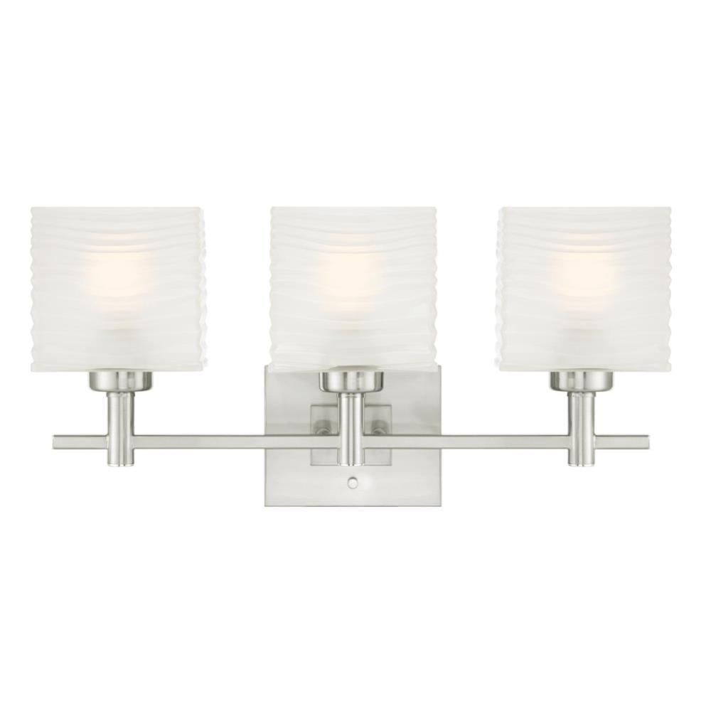 Westinghouse Alexander 3-Light Brushed Nickel Wall Mount Bath Light ...