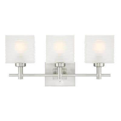 Alexander 3-Light Brushed Nickel Wall Mount Bath Light