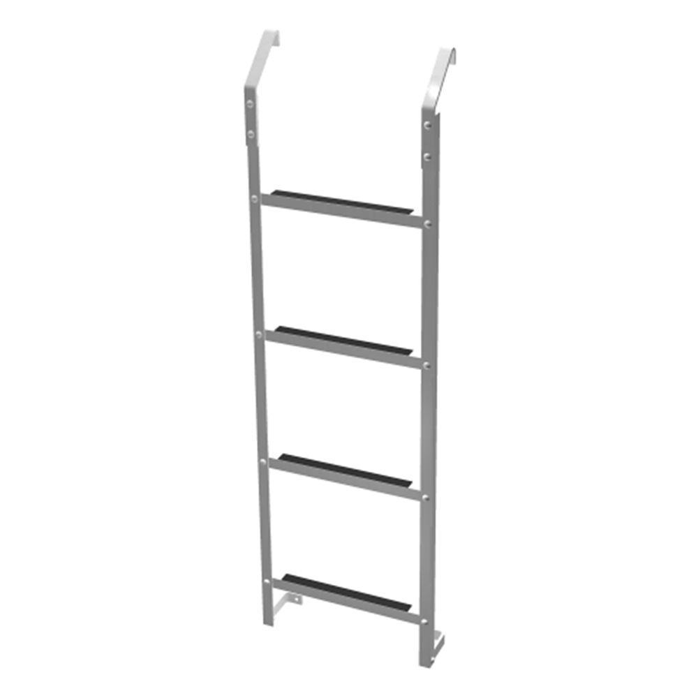 Ultra Protect 4-Step Aluminum Basement Window Well Egress Escape Ladder