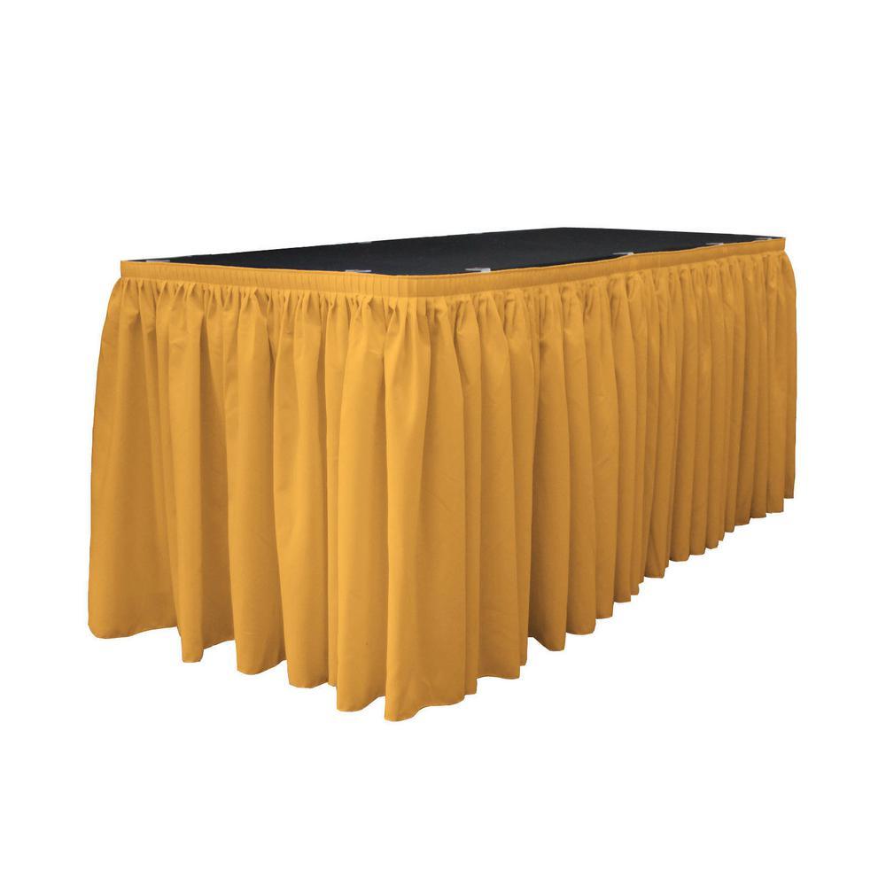 L.A. Linen 21 ft. x 29 in. Long Gold Polyester Poplin Tab...