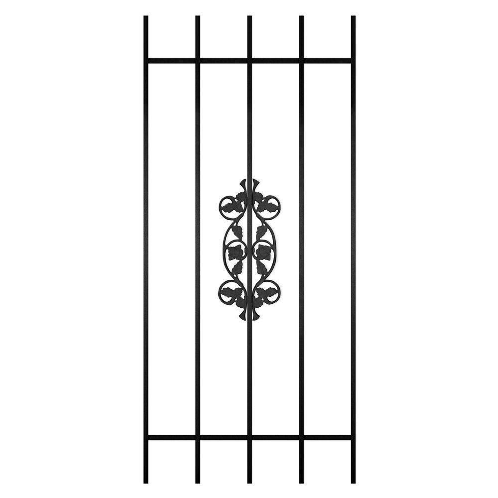 Unique Home Designs Rambling Rose 24 in. x 54 in. Black 5-Bar Window Guard-DISCONTINUED